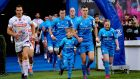 Leinster's Woodstock 50th anniversary celebratory tie-dye squashed, fifty shades of blue is in the running for the gong in the worst jersey of 2019 category. Photograph: Inpho