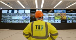 Sean O'Neill, director of communications TII at the new National Motorway Control Centre. Photograph: Alan Betson
