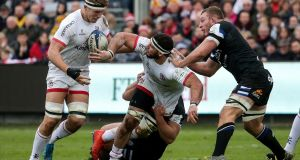 Marcell Coetzee: his  performance against Bath exemplified his quality and importance to Ulster.   Photograph: Laszlo Geczo/Inpho