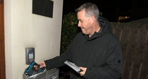 Independent Paul Gogarty  canvassing in Adamstown in  Dublin Mid West. Photograph: Dave Meehan