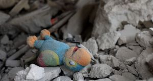 A toy lies amongst the rubble of a building destroyed by a reported Russian air strike on  al-Barra in  Idlib province on November 15th. Photograph: Omar Haj Kadour/AFP via Getty Images