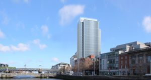 Architect's impression of the Ronan Group's planned development at Tara Street and the quays in Dublin.