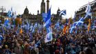 A Scottish-independence rally in Glasgow this month. Photograph: Andy Buchanan/AFP/Getty