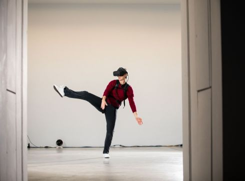 EXPANDED FIELDS: Dancer Ursula Robb during rehearsals for a free day-long performance installation taking place on November 23rd and 24th at Limerick City Gallery of Art. Photograph: Alan Place