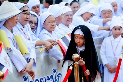 WAITING FOR FRANCIS: Thai Catholic nuns wait for Pope Francis' visit to St Peter's church in Nakhon Pathom province, Thailand. Pope Francis is the first pontiff to visit Thailand in nearly four decades after John Paul II in 1984. Photograph: Diego Azubel/EPA