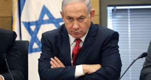 Israeli prime minister and leader of Likud Binyamin Netanyahu:  only obliged to step down if a guilty verdict has been handed down following an appeal process. Photograph: Abir Sultan
