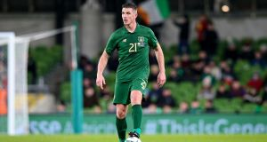 Ireland's Ciaran Clark in action against New Zealand earlier this month. Photograph: Tommy Dickson/Inpho