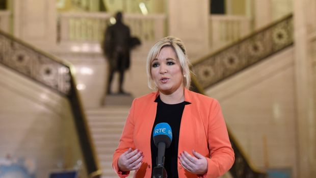 "Sinn Féin's Northern leader Michelle O'Neill has said her party ""stands ready to form a credible, sustainable and inclusive executive"". File photograph: Michael Cooper/PA Wire"