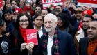 "Britain's Labour Party leader Jeremy Corbyn in Thurrock: Boris Johnson has launched ""a manifesto for billionaires"". Photograph: Henry Nicholls"