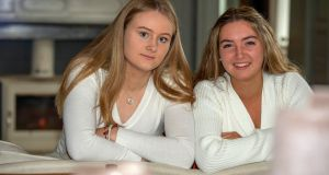 Ali McCarthy and Aoibhinn Fitzgerald of Scoil Mhuire are backing the Friendship is Bigger than Borders Initiative. Photograph: Michael MacSweeney/Provision
