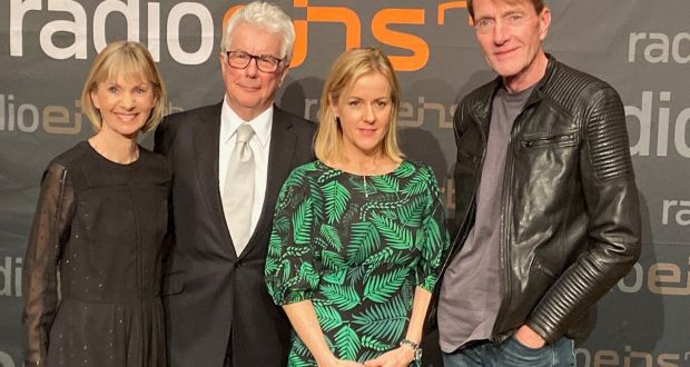 Kate Mosse, Ken Follett, Jojo Moyes, Lee Child pictured in Berlin. Photograph: Derek Scally