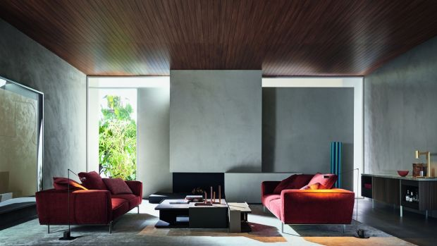 Pair of Gregor sofas by Italian brand Molteni