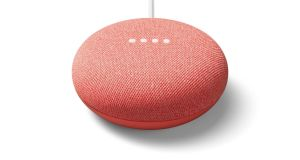 Google Nest Mini, a new smart speaker out this Christmas. Photograph: Google/PA Wire