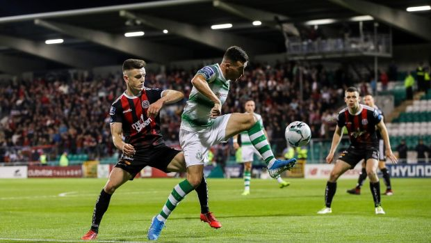 August's Dublin derby between Shamrock Rovers and Bohemians attracted more than 7,000 supporters. Photograph: Ryan Byrne/Inpho