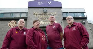 Mulhuddart Community Centre staff Audrey McGuirk, Angela Priestly, Joe Byrne and Kathleen Brennan are paid minimum wage while colleagues in same jobs earn more. Photograph: Alan Betson