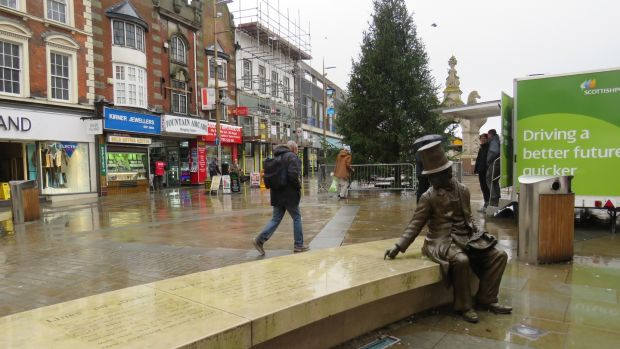Dudley's market square was expensively refurbished with the help of the EU. Photograph: Jennifer O'Connell