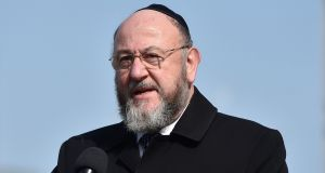 UK Chief Rabbi Ephraim Mirvis has criticised Labour leader Jeremy Corbyn for lack of actions against anti-Semitism in the party. Photograph: Hannah McKay/EPA