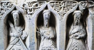 Bas-relief at Jerpoint Abbey, a Cistercian abbey founded in 1158 in Co Kilkenny. Photograph:  DeAgostini/Getty Images