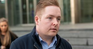 Fearghal Ó Snodaigh (24) pictured leaving court on Tuesday. Photograph: Collins Courts