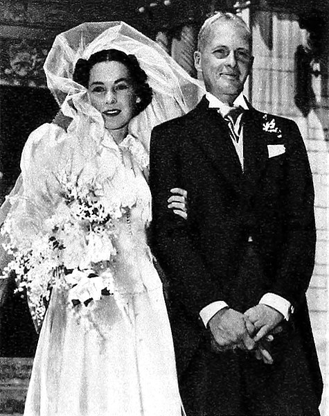 Maureen O'Sullivan and John Farrow's wedding in 1936. Photograph: Wikimedia Commons