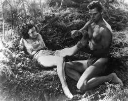 Maureen O'Sullivan and Johnny Weissmuller in Tarzan the Ape Man in 1932. Photograph: Wikimedia Commons