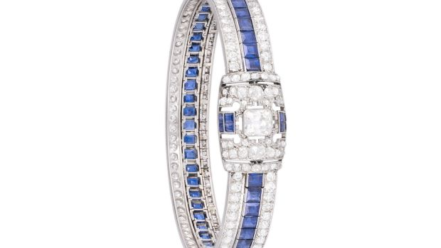 Art deco sapphire and diamond bangle €6,000–€7,000
