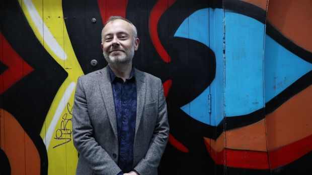 2As O'Shea talks over coffee in a Dublin hotel, he has the smooth tones and chatty flow of his on-air DJ persona, but is more self-consciously serious as he discusses his personal taste in books. Photograph: Nick Bradshaw/The Irish Times