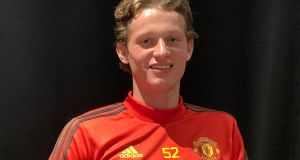 Max Taylor could make his Manchester United debut against Astana on Thursday. Photograph: Simon Peach/PA