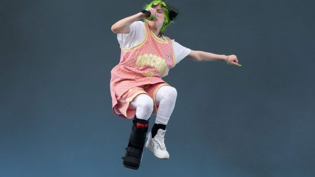 17-year-old Billie Eilish flooded the pop sphere with her delectably nightmarish bops all year long. Photograph: Suzanne Cordeiro/AFP via Getty Images