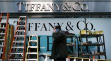 Tiffany & Co assortment of ladders, not for sale, New York. Photograph: Spencer Platt/Getty Images