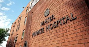 The Mater Private Hospital in Dublin.