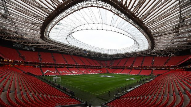 Ireland will meet Spain at the Estadio de San Mames in Bilbao, should they qualify for the tournament. Photograph: David Ramos/Getty