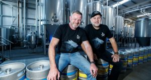 Simon Lynch and Quincey Fennelly, co-founders of the Wicklow Wolf Brewing Company. Photograph: Andres Poveda
