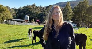 Grace Walsh on the farm in Springfield, Tasmania. 'I grow many of our vegetables, bake bread, preserve, collect fresh eggs. In a time of climate disruption it's both a privilege and enormous responsibility to be stewarding this pocket of land.'
