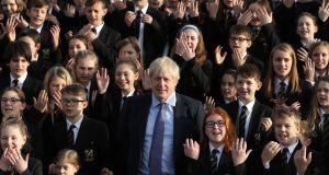 British prime minister Boris Johnson is on course to win a majority of 68 in parliament, according to a model from pollsters YouGov. Photograph: Dan Kitwood/Getty Images