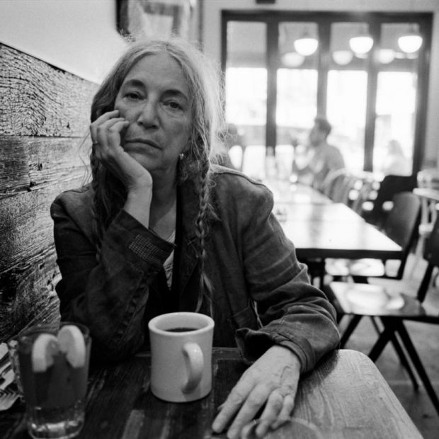 Patti Smith at her local coffee shop in SoHo, New York, in September. Photograph: Andre D Wagner/New York Times Patti Smith. Photograph: Andre D Wagner/NYT