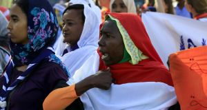 Sudanese women march in Khartoum to mark International Day for Eliminating Violence against Women, in the first such rally held in the northeast African country in decades, on November 25th, 2019. Photograph: Ashraf Shazly/AFP/Getty Images