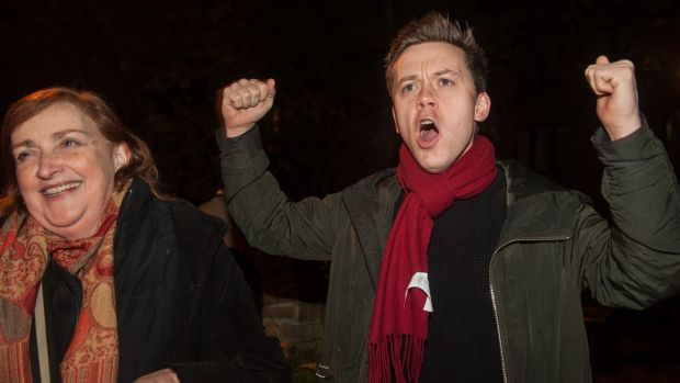 Irish backstop - Journalist and Labour activist Owen Jones given a speech in support of Labour candidate Emma Dent Coad organised by Momentum recently in London, England. Photograph: Guy Smallman/Getty