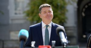 Minister for Finance  Paschal Donohoe at Government Buildings. Photograph: Alan Betson / The Irish Times