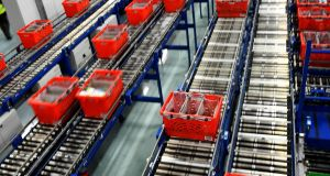 The Ocado Customer Fulfilment Centre in Hatfield on the outskirts of London. Photograph: Dylan Martinez/File Photo/Reuters