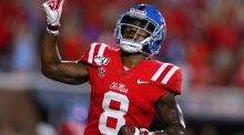 Ole Miss wide receiver Elijah Moore. Photograph:  Jonathan Bachman/Getty Images