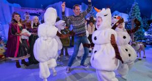 Ryan Tubridy and participants rehearsing for  the 2019 Late Late Toy Show. Photograph: Colin Keegan/Collins