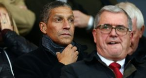 Chris Hughton, pictured attending Bournemouth's home game with Wolves on November 23rd, could take over from Quique Sanchez Flores at Watford. Photograph:   Jordan Mansfield/Getty Images