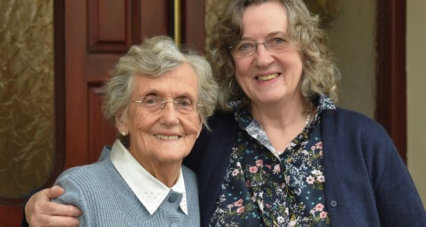 Kathleen Harkin (93) and her daughter Margo. Photograph: Trevor McBride