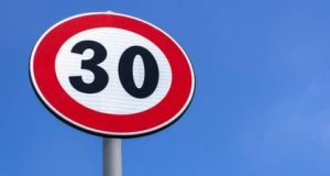 Last year Dublin City Council   pushed the 30km/h limit out to 12 more south-side suburbs and 19 on the north side. Photograph: Getty Images