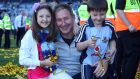 Dublin manager Jim Gavin with his children Yasmin and Jude after the 2013 final. Photo: Donall Farmer/Inpho
