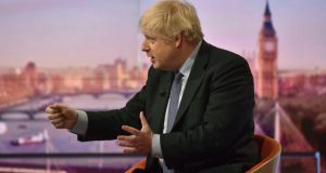 UK prime minister Boris Johnson amde the comments while speaking on the BBC's Andrew Marr Show on Sunday. Photograph: Jeff Overs/BBC Picture Publicity/Getty