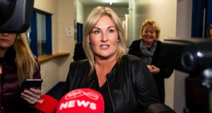 Fine Gael's Wexford byelection candidate Verona Murphy is pictured after being eliminated, at St Joseph's Community Centre. Photograph: Patrick Browne
