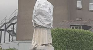 The statue was damaged in June.