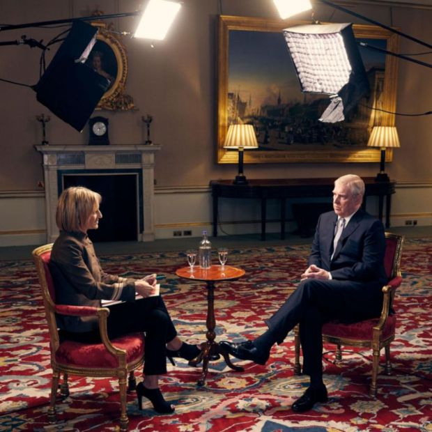 Disastrous appearance: Emily Maitlis interviews Prince Andrew at Buckingham Palace for Newsnight. Photograph: BBC